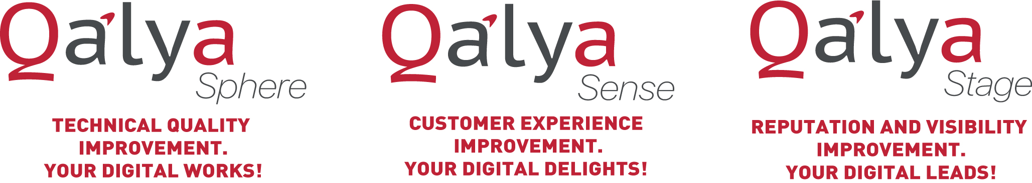 Qalya is a suite designed to optimise the digital customer experience, THE QALYA SUITE